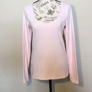 Victoria's Secret LS baby pink T-shirt top Sz M